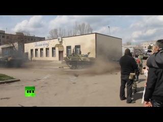 Донецкий дрифт: ополченцы сделали «восьмерку» на БМД