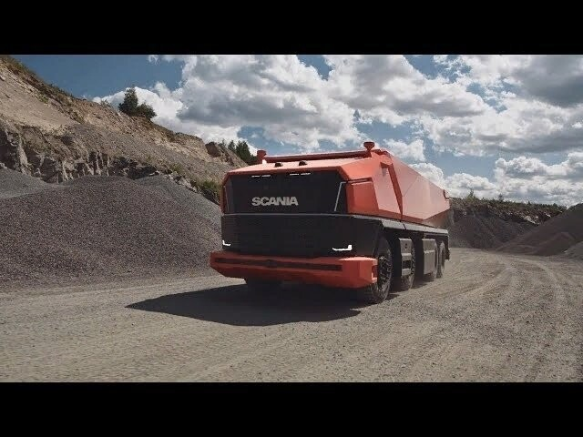Автономный самосвал Scania демонстрирует будущее...