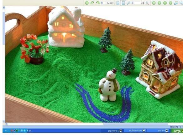 песочная терапия - снеговик