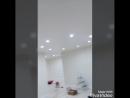 Натяжной потолок со встроенными светильниками
