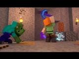 СТРАННЫЙ - Майнкрафт Клип Песня (На Русском) - Alex Life Minecraft Parody Song Animation RUS