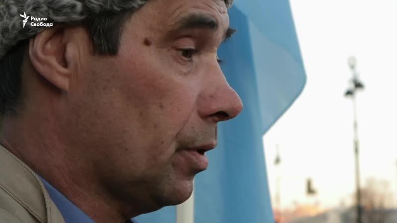 Пикет в Петербурге в поддержку крымских татар. Репортаж