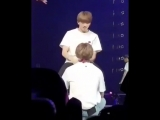jungkook held out his hand for taehyung to reach .mp4