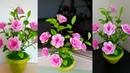 Cara Membuat Bunga Kertas Origami || Beautiful flower craft from origami paper