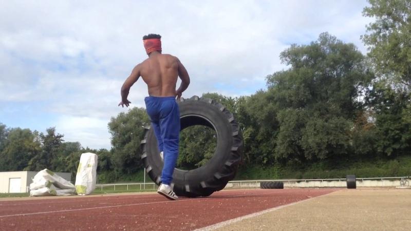 Gugu Quilombola 2 Tractor Tire Capoeira Training- Treino com Pneu de trator pra Capoeira