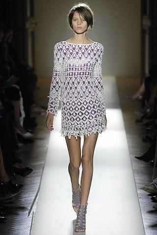 Вяжем красивое ажурное платье.