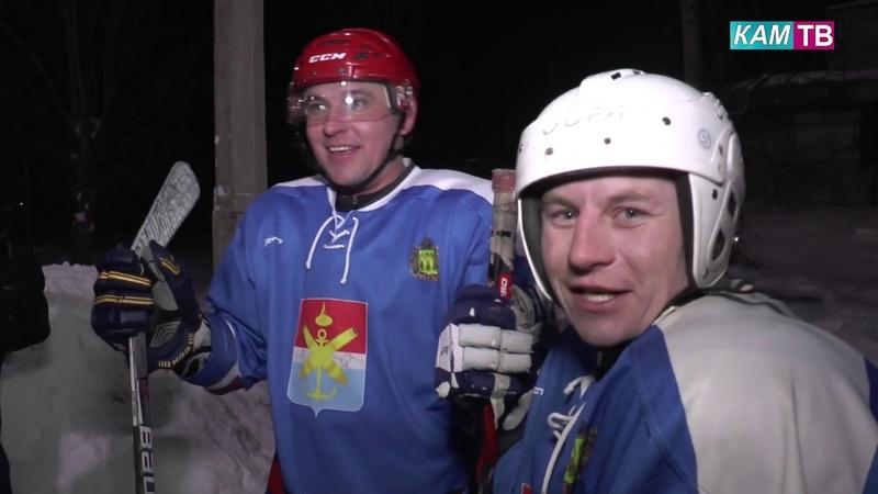 Торжественное открытие новой хоккейной площадки