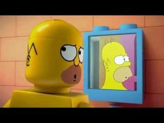 Trailer for Brick Like Me THE SIMPSONS, Лего трейлер Симпсоны