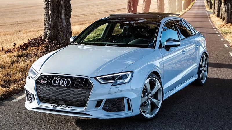 WOW, COOL SPEC! - 2018 AUDI RS3 SEDAN - (400HP, 5CYL) - Glacier white body and details! - 0-100 3.6