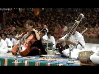 "Pandit Shubendra Rao (sitar) Saskia Rao de-Haas (cello) ""Live on the 4th day of the ongoing 87-th Birthday celebrations, here in Prasanthi Nilayam"" (21.11.2012)"