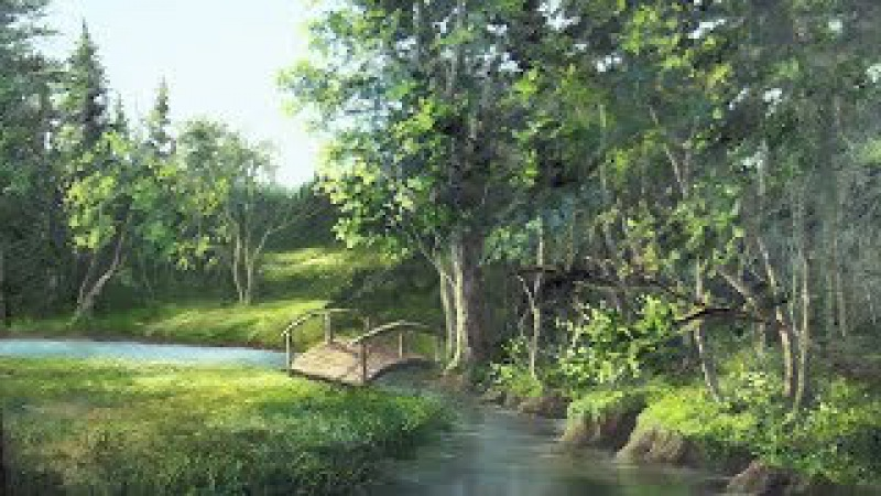 Bridge over the Creek | Landscape Oil Painting