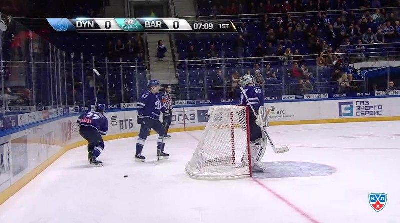 Моменты из матчей КХЛ сезона 1415 • Сэйв. Лацо Ян (Барыс) спас после выхода один в один 19.10