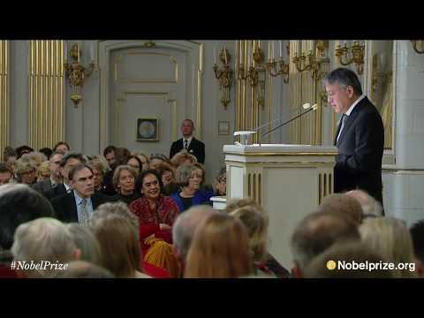 Nobel Lecture Kazuo Ishiguro, Nobel Prize in Literature 2017