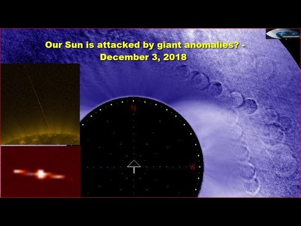 Our Sun is attacked by giant anomalies? - December 3, 2018