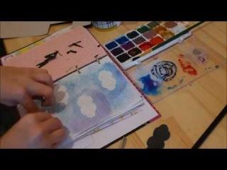 Идея для личного дневника #16 - Как оформить фон