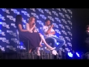 Caity Lotz, Franz Drameh Brandon Routh Legends Panel At HVFF 03