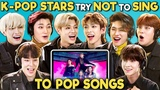 K-pop Stars React To Try Not To Sing Along Challenge (ATEEZ 에이티즈)
