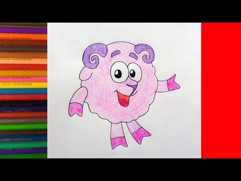 Как нарисовать Смешарика Бараша, рисунки для детей