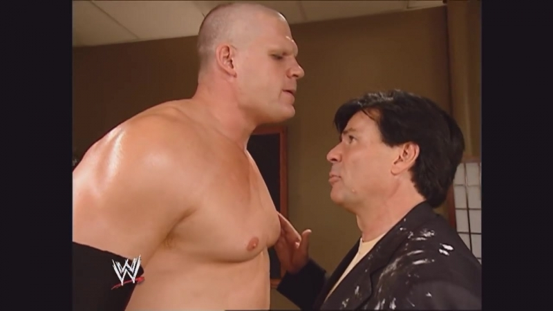Kane and Eric Bischoff Backstage Raw 09 13 2004