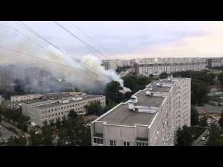 Пожар в бывшем общежитии ФСИН в Зеленограде