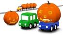 Halloween con 4 coches coloreados Dibujos animados para niños