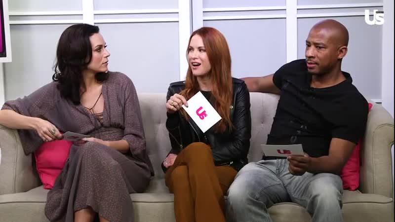 Дэннил Эклз, Хилари Бертон и Энтуон Таннер зачитывают свои реплики из сериала ХОД для US Weekly