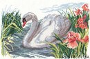 Набор для вышивания Белый лебедь, Алиса 1-02 купить в санкт петербурге Шале, Aida 14, Счетный крест.
