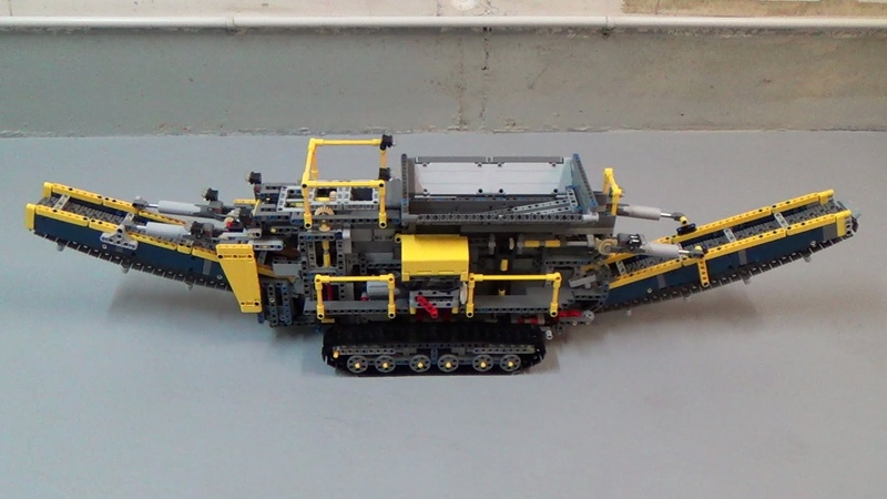 LEGO Technic 42055 Bucket Wheel Excavator C Model (MOC) - RC Aggregate Processing Plant