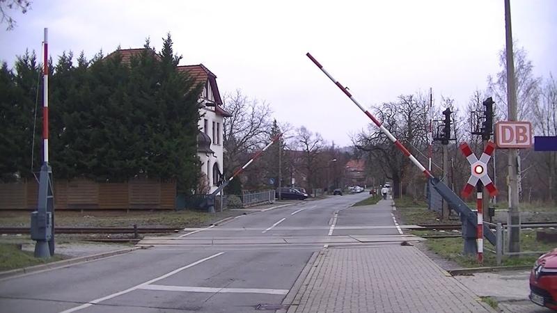 Spoorwegovergang Halberstadt Spiegelsberge D Railroad crossing Bahnübergang