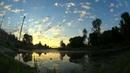 Восход солнца, вид с пристани г.Суджа (ускоренная)