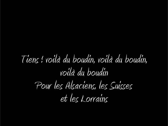 Le Boudin paroles Chant Légion étrangère
