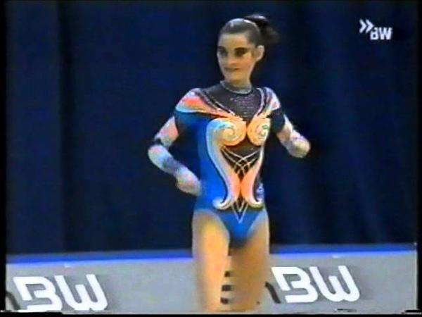 Юлия Барсукова обруч финал Кубок Мира 2000 Карлсруэ
