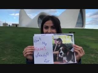 «Мисс Баку» призналась в любви возлюбленному на фоне лучшего в мире здания. Азербайджан Azerbaijan Azerbaycan БАКУ BAKU Карабах