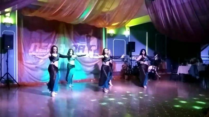 Танец Хайяти группа Восточные амазонки на восточной вечеринке в ТЦ Легенда 29 04 18