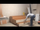 Двухъярусная выкатная кровать