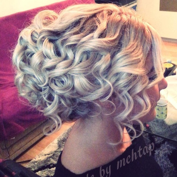 прически и стрижки фото накрученые волосы