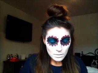 Sugar Skull Makeup Look (видеоурок нанесение грима )