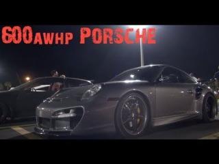 Corvette ZR1 battles 600awhp Porsche (Bonus TRC GTR vs c6z)