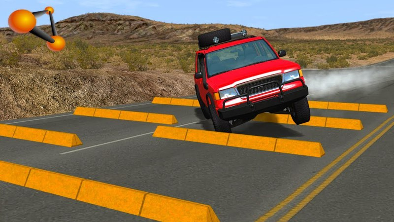 BeamNG.drive - Curbs High Speed Crashes