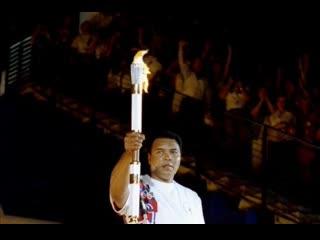 Мухаммед Али зажигает факел на Олимпиаде в Атланте, 1996г.