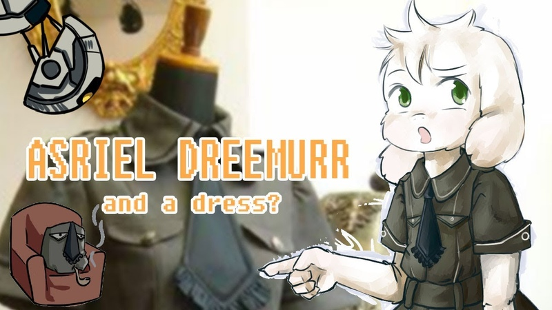 ASRIEL DREEMURR in a dress  speedpainting animation(a bit)