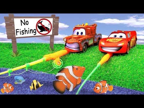 Bingo Dog Song w relâmpago McQueen E Amigos ir para pescaria brinquedo Berçário Rimas para Crianças