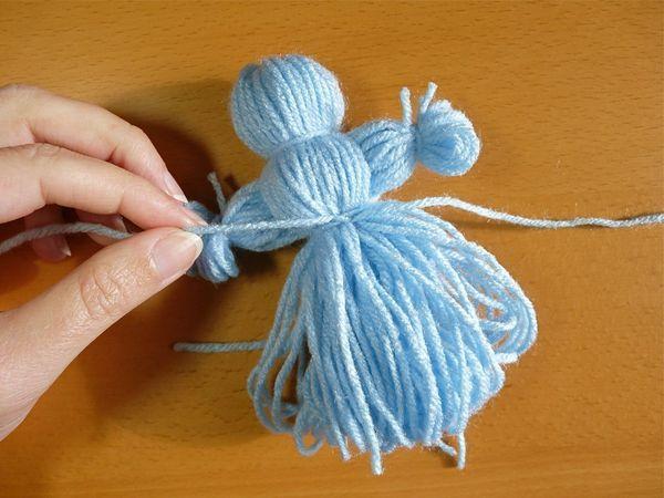 Куклы из ниток пошаговая инструкция фото