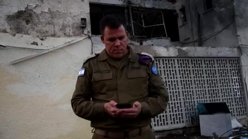 Lt. Col. Jonathan Conricus in Ashkelon