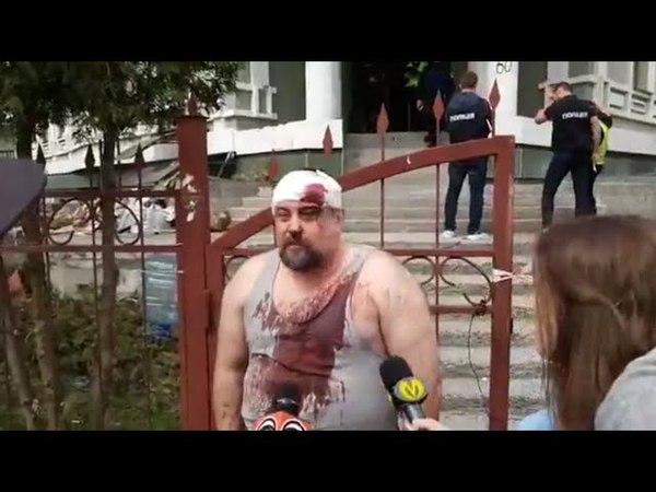 Титушки захватили общежитие переселенцев в Киеве