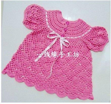 Детское платье крючком. Схема. вязание дети… (3 фото) - картинка