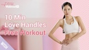 Smaller Waist Exercises! Get Rid of Love Handles Muffin Top with 10 Minutes At Home Workout