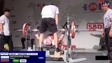 Motovilnik Vasilii RAW bench press 135kg@74kg Master 3. IPF WC 2019