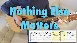 Metallica - Nothing Else Matters (acoustic cover, tab)
