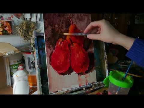 Пишем этюд с натуры акриловыми красками Мастер-класс от Невской палитры